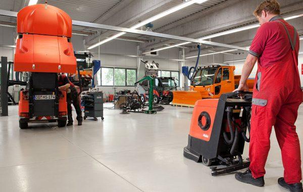 Industriehalle Beschichtung Werkstatt Kommunaler Bauhof