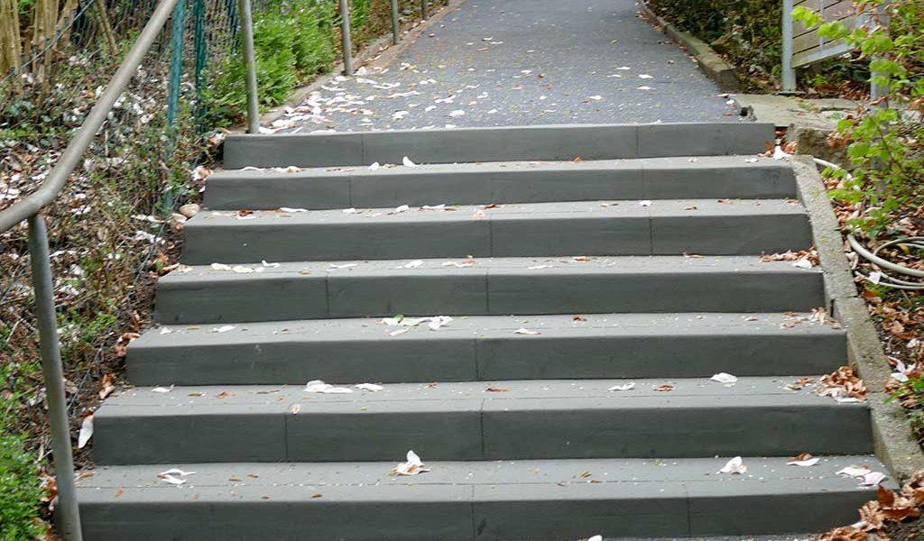 Schnelle Treppensanierung zur Beseitigung von Unfallgefahren im Öeffentlichen Verkehrsraum nach Sanierung