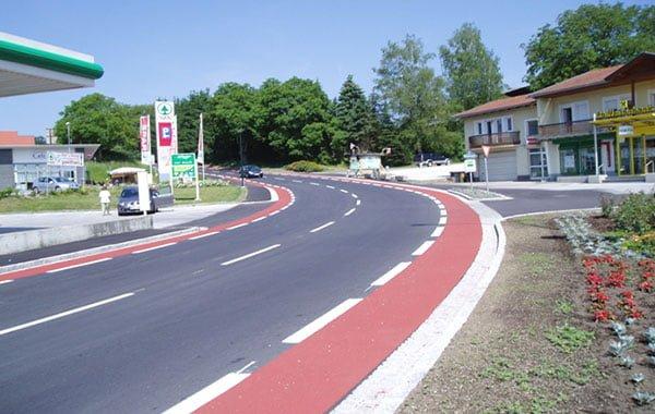 Dauerhafte Radwegbeschichtung