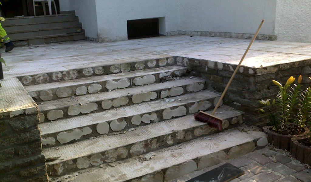 Beton Treppensanierung Terrasse vor Sanierung